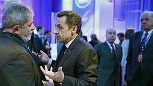 Lula e Sarkozy se encontraram em Washigton, durante a Cúpula de Segurança Nuclear.
