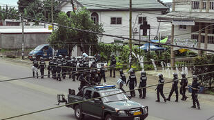 Des membres des forces de l'ordre camerounaises lors d'une manifestation en 2017 (image d'illustration).