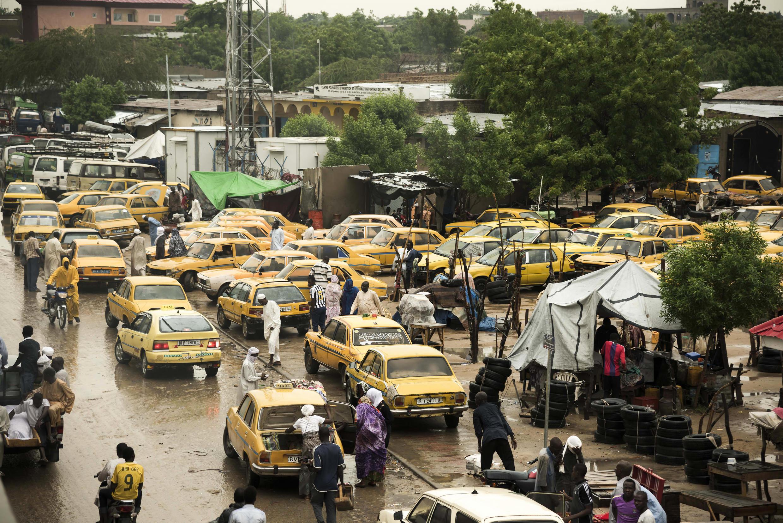 Vue de Ndjamena, août 2017, dans le flot de véhicules (illustration).