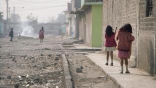 Barrio de Chabolas en México.