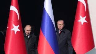 Владимир Путин и Реджеп Тайип Эрдоган, Анкара, 3 апреля 2018.