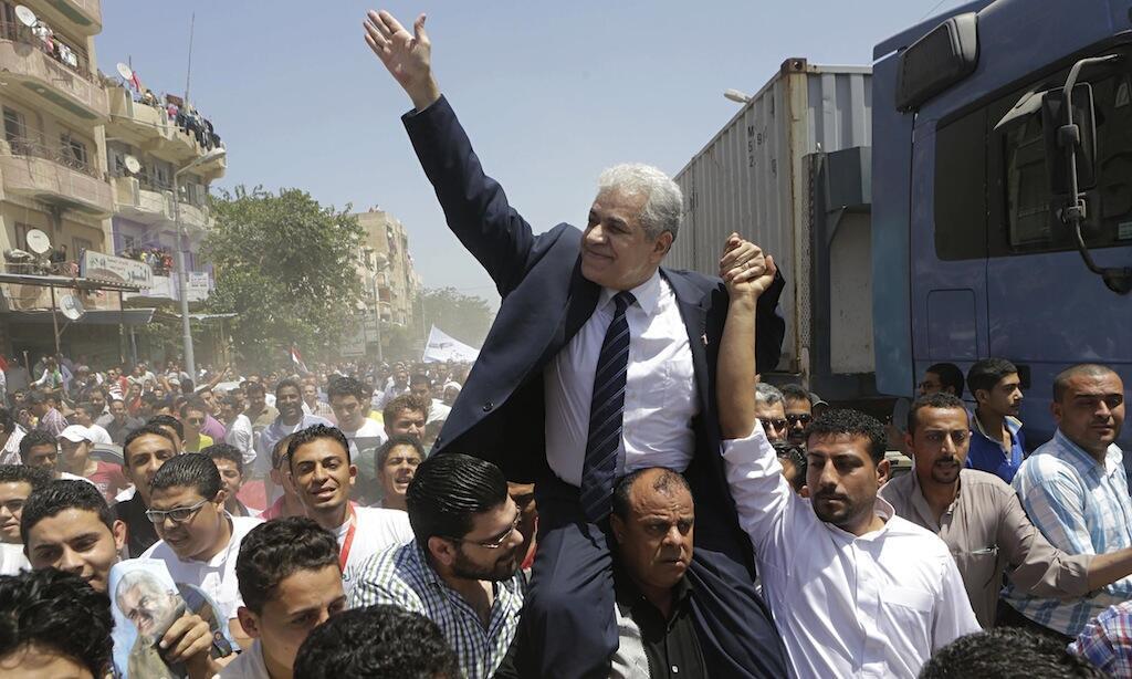 Hamdeen Sabbahi kiongozi wa chama cha upinzani anayepewa nafasi ya kutoa upinzani kwa Jenerali, Al-Sisi