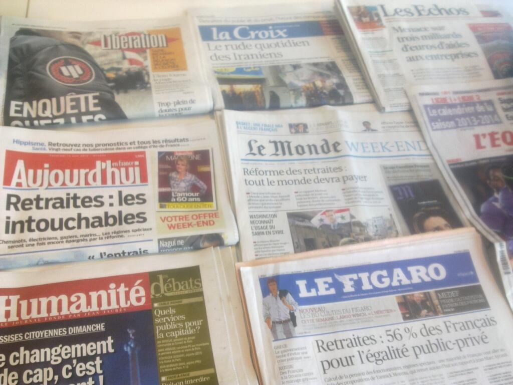 Diários franceses  14/06/2013