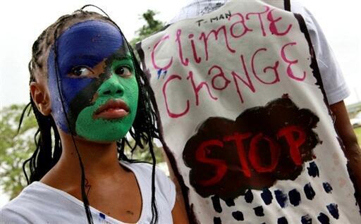 Manifestation sur le climat : «Justice pour le climat, maintenant ! » à Merebank en Afrique du Sud. (Image d'archives).