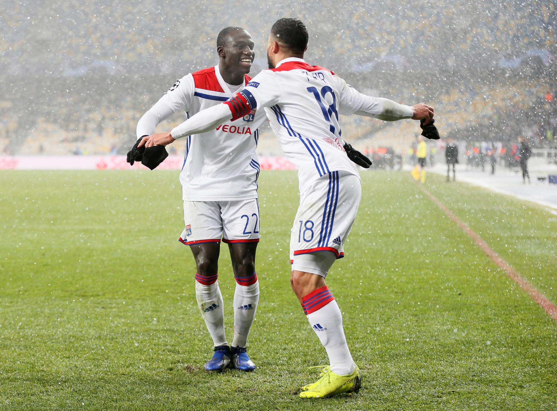 Les Lyonnais Ferland Mendy et Nabil Fékir (à droite).