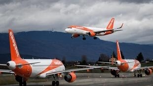 After it grounds its planes, easyJet said that for two months crew would be paid 80 percent of their average pay thanks to an emergency UK government scheme
