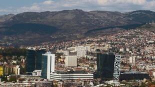 Vue de Sarajevo, capitale de la Bosnie-Herzegovine.