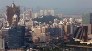 Vue générale de Macao et de ses casinos.