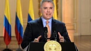 Le président colombien Ivan Duque, ici le 17 mars dernier, avait fait de la criminalité à l'encontre des mineurs un thème de campagne.