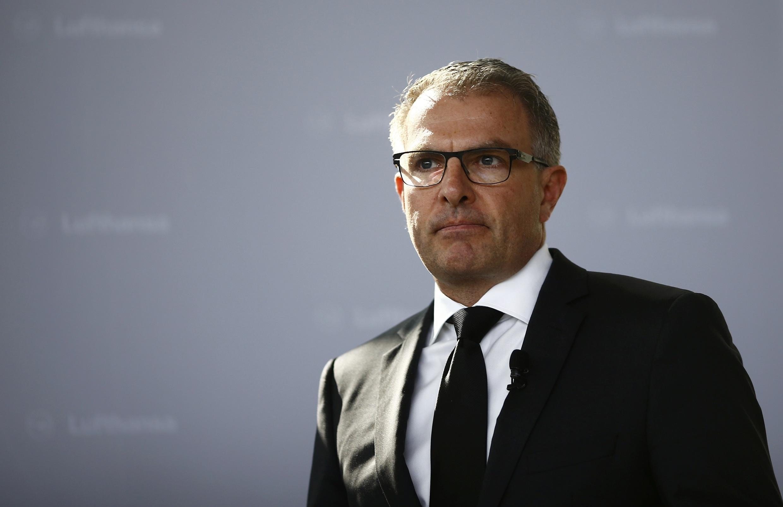 Carsten Spohr, le PDG de la Lufthansa, le jour du crash de l'A320 de la Germanwings.
