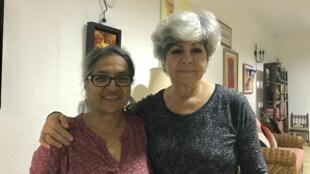 Cristina Pinto e Cesaltina Abreu organizadoras da iniciativa