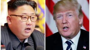 Lãnh đạo Bắc Triều Tiên Kim Jong Un (T) và tổng thống Mỹ Donald Trump (ảnh ghép của Reuters)
