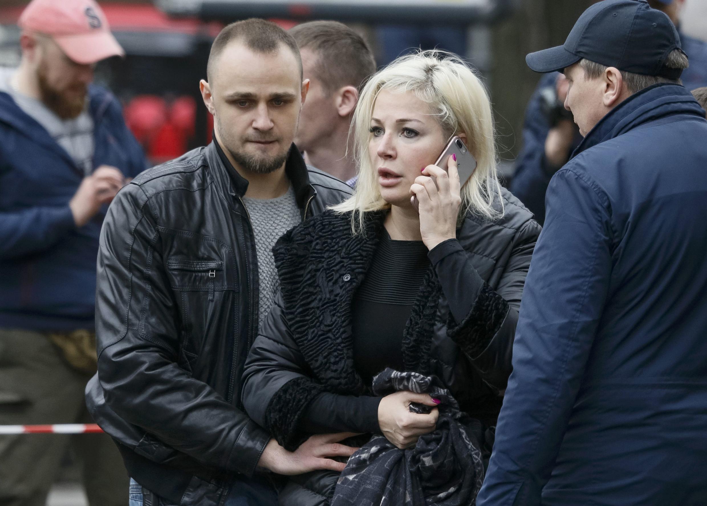 Вдова убитого экс-депутата Госдумы Дениса Вороненкова Мария Максакова, Киев, 23 марта 2017 г.