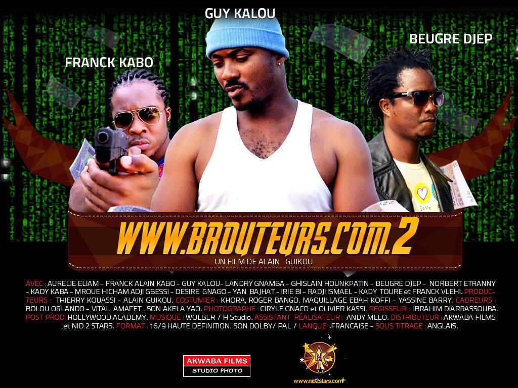 Affiche de la saison 2 de la serie « Brouteurs.com », une série sur la cybercriminalité.