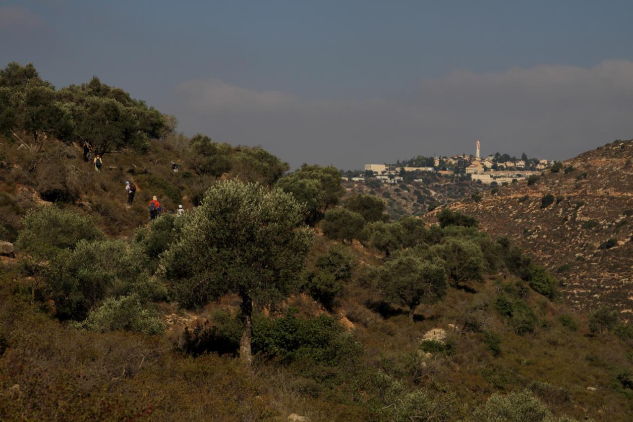 En Cisjordanie, les colonies israéliennes, comme Beït-Horon, grignotent le territoire.