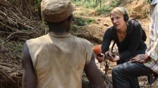 Sophie Bouillon, en reportage en République Démocratique du Congo.