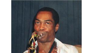 Photo prise le 15 septembre 1988 à Lagos du musicien nigérian Fela Anikulapo-Kuti, plus connu sous le diminutif de Fela.