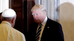 Le pape François et Donald Trump le 24 mai au Vatican.