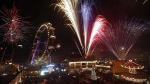 Les feux d'artifice sont très populaires dans le monde. Ici, celui du 1er janvier 2012, à Vienne en Autriche.