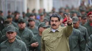 Tổng thống Venezuela Nicolas Maduro trong cuộc mít-tinh tại một căn cứ quân sự ở Caracas ngày 30/01/2019.