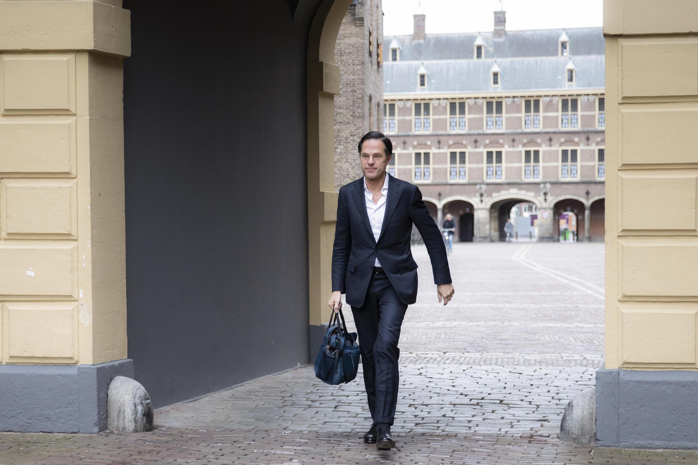 El primer ministro holandés, Mark Rutte, el 2 de abril de 2021 en La Haya, Holanda