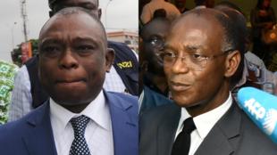 Kouadio Konan Bertin (à gauche) et Mamadou Koulibaly, candidats à l'élection présidentielle 2015 en Côte d'Ivoire