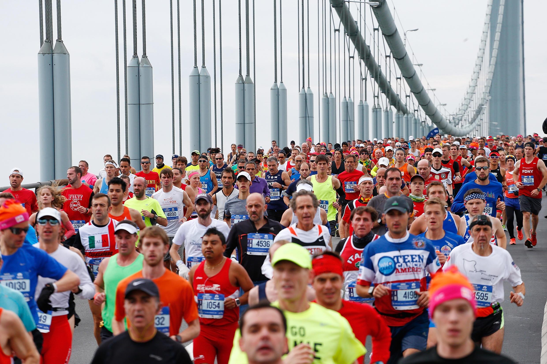 Des participants au Marathon de New York en 2015.
