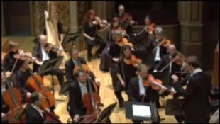 Une vue du concert d'ouverture animé par l'orchestre Philharmonique de Liège (Capture d'écran).