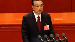 2018年3月5日,中国国务院总理李克强在全国人大会议开幕式上作政府工作报告。