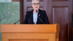 Berit Reiss-Andersen, la présidente du comité Nobel norvégien, a annoncé le lauréat 2020.