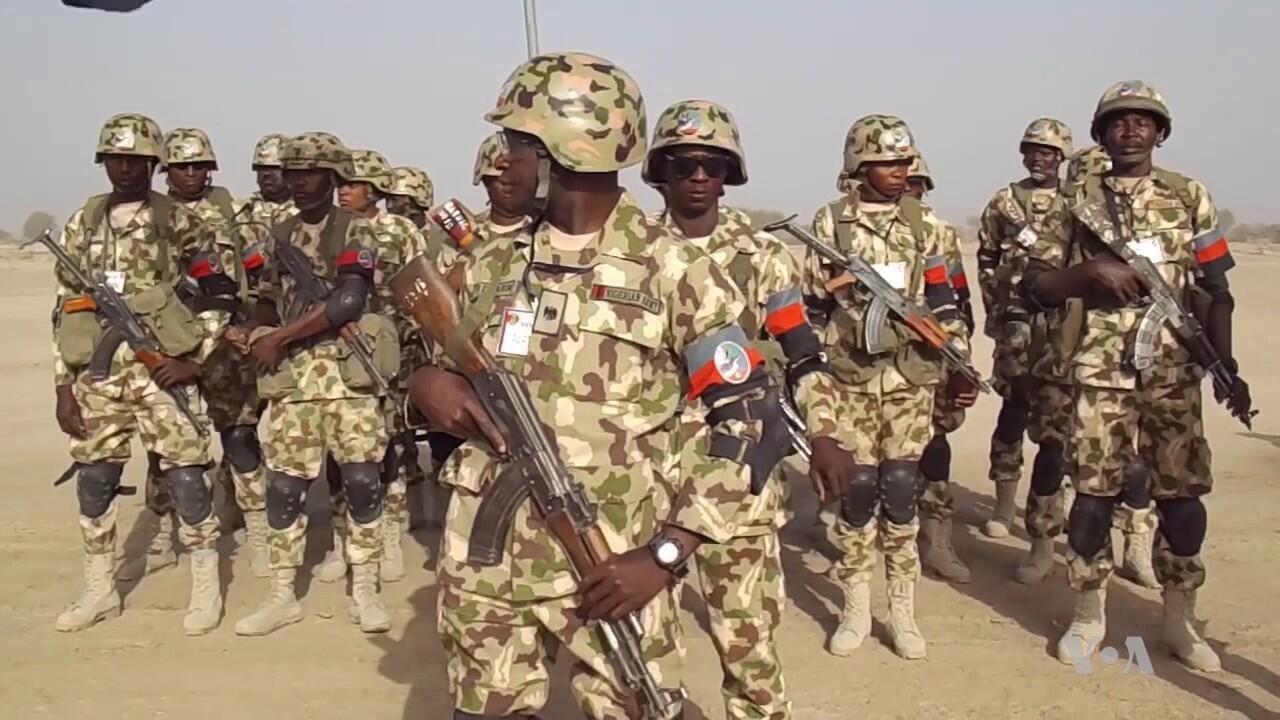 Dakarun Sojin Najeriya da ke yaki da Boko Haram a Maiduguri.