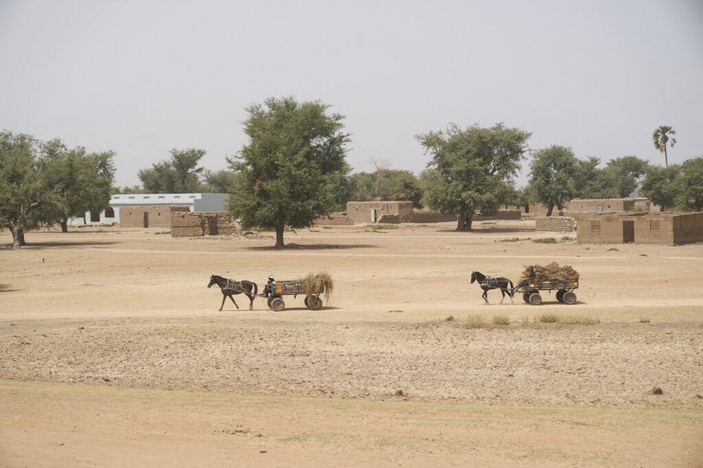 Wani kauye kan iyakar Mali da Nijar a watan Fabrairun  2020.