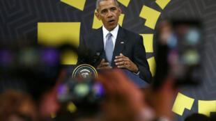 美國總統奧巴馬在利馬APEC峰會上,2016年11月20號
