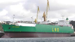 Un méthanier, le «LNG Bonny».