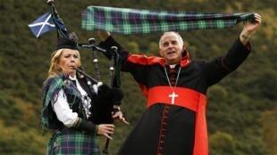 Cardeal Keith O'Brien, em Edimburgo (Escócia), em foto de setembro de 2010.