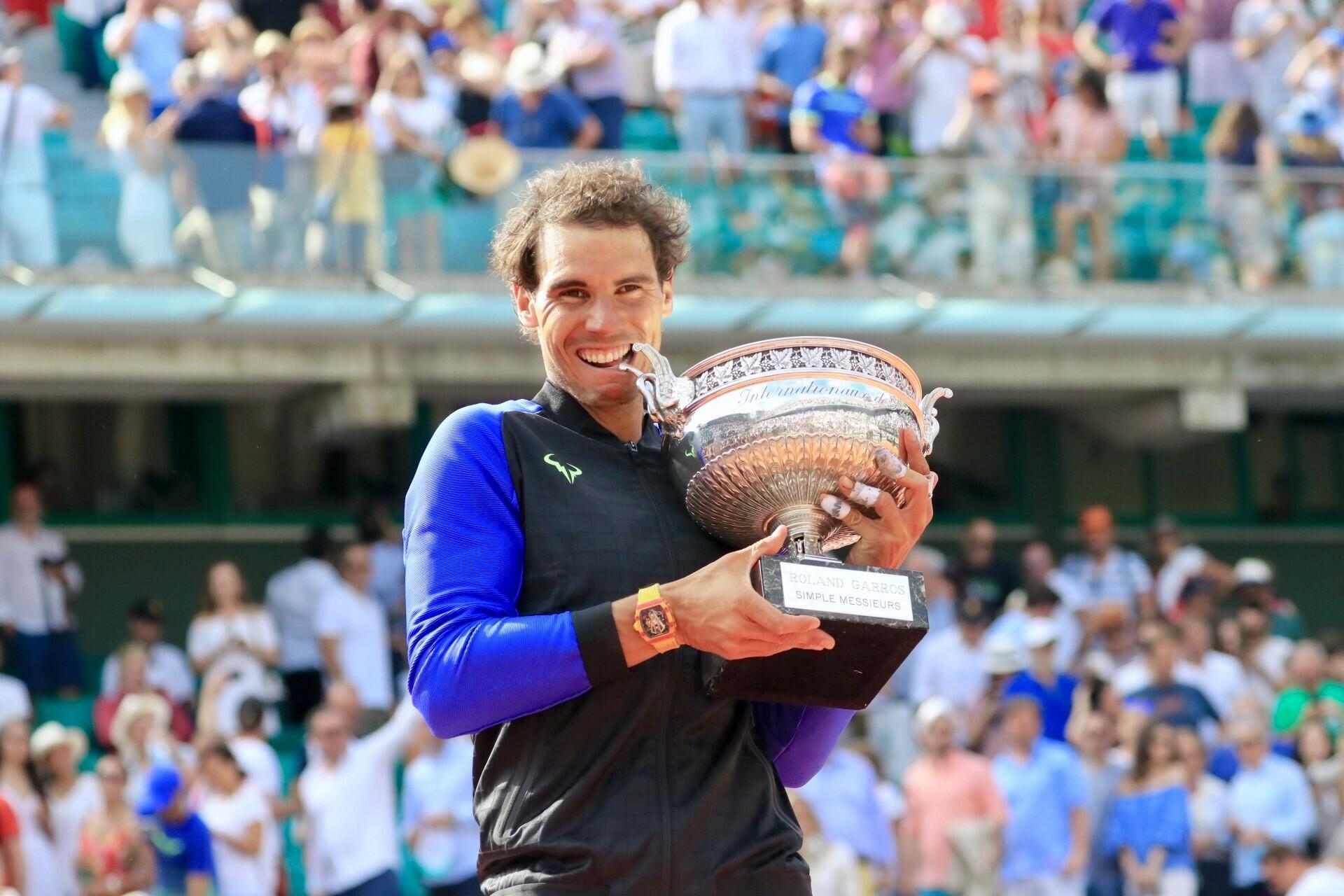 Rafael Nadal after winning at Rolland-Garros for the 10th time