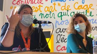 Karine Ramondy, chercheuse-associée à l'UMR SIRICE Paris I Panthéon-Sorbonne et la réalisatrice de documentaire Mila Turajlic.