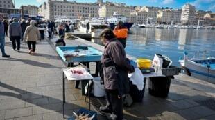 Sur le Vieux-Port de Marseille: la droite peut perdre la deuxième ville de France au second toure des municipales le 28 juin prochain.