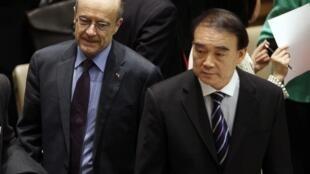 Ngoại trưởng Pháp và Đại sứ TQ tại LHQ trước cuộc biểu quyết về Libya