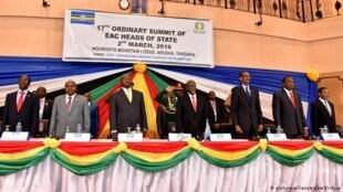 Viongozi wa Jumuiya ya Afrika mashariki katika moja ya mikutano yao