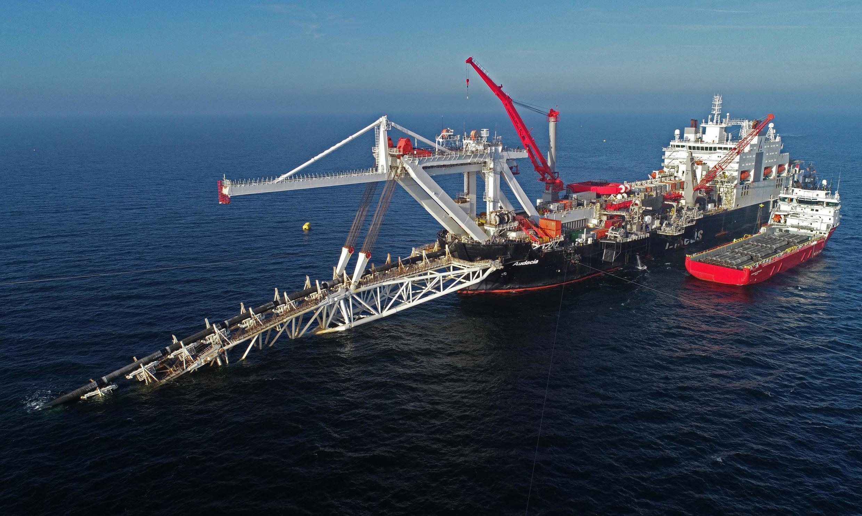 ការដ្ឋានសាងសង់បំពង់បង្ហួរឧស្ម័ន Nord Stream 2 នៅក្នុងសមុទ្រខាងជើង