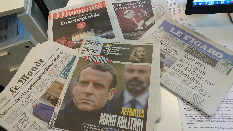 Primeiras Páginas  de Diários franceses
