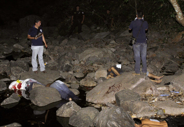 Matanza entre maras salvadoreñas en Suchitoto, El Salvador, el 2 de febrero de 2010.