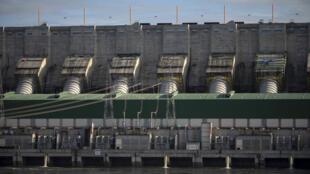 Le barrage de Belo Monte, photographié en mars 2019 à Altamira, dans l'État du Para.