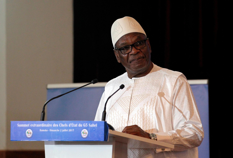 Le président malien Ibrahim Boubakar Keïta, ici à Bamako, le 2 juillet 2017, a nommé son nouveau gouvernement après la nomination du nouveau Premier ministre Soumeylou Boubèye Maïga..