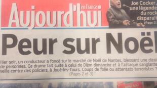 Novos ataques disseminam medo na população francesa às vésperas do Natal.
