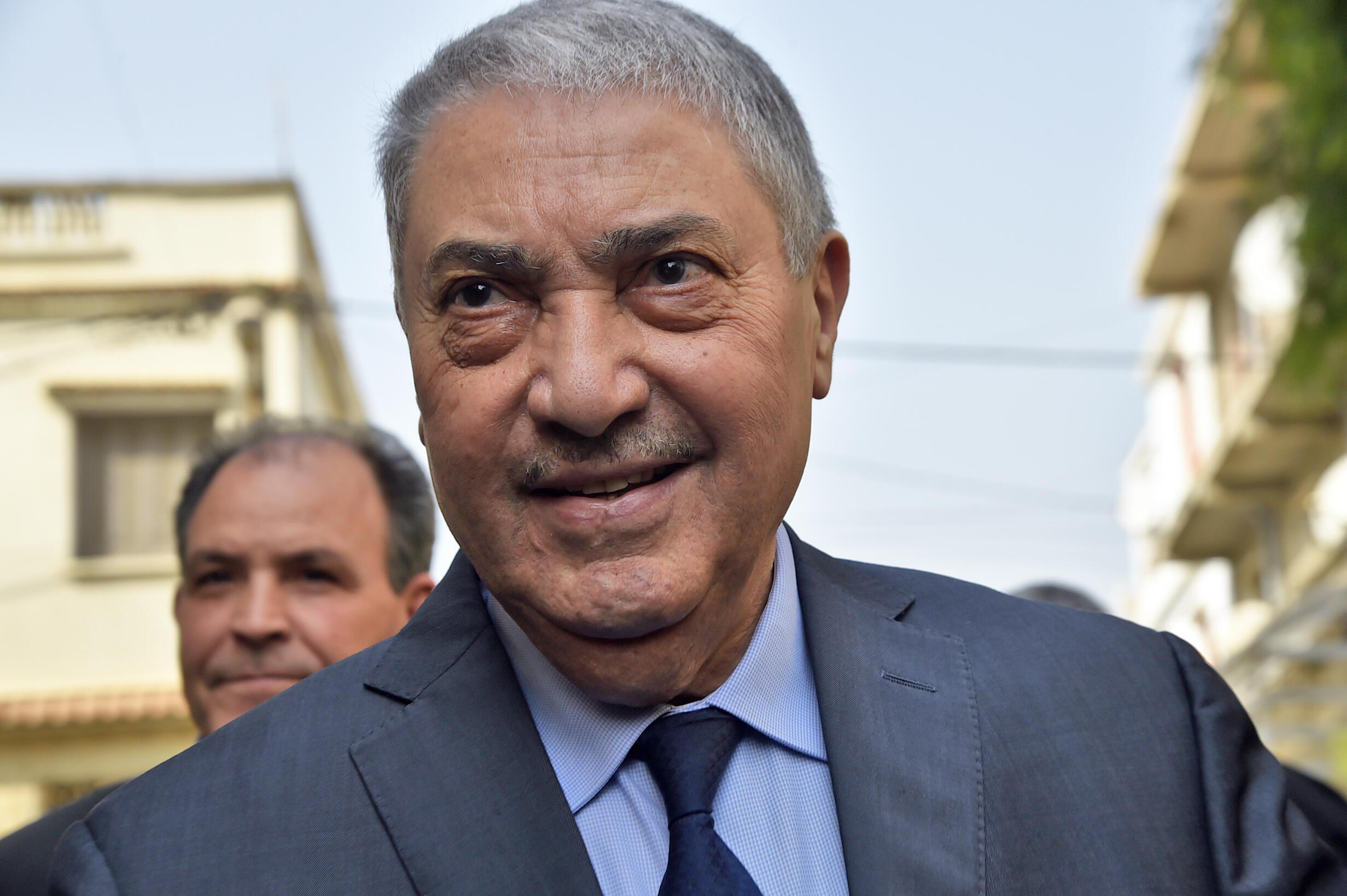 L'ancien Premier ministre algérien Ali Benflis à Alger, le 20 février 2019.