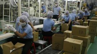 Công nhân nhà máy Vedan tại Việt Nam.