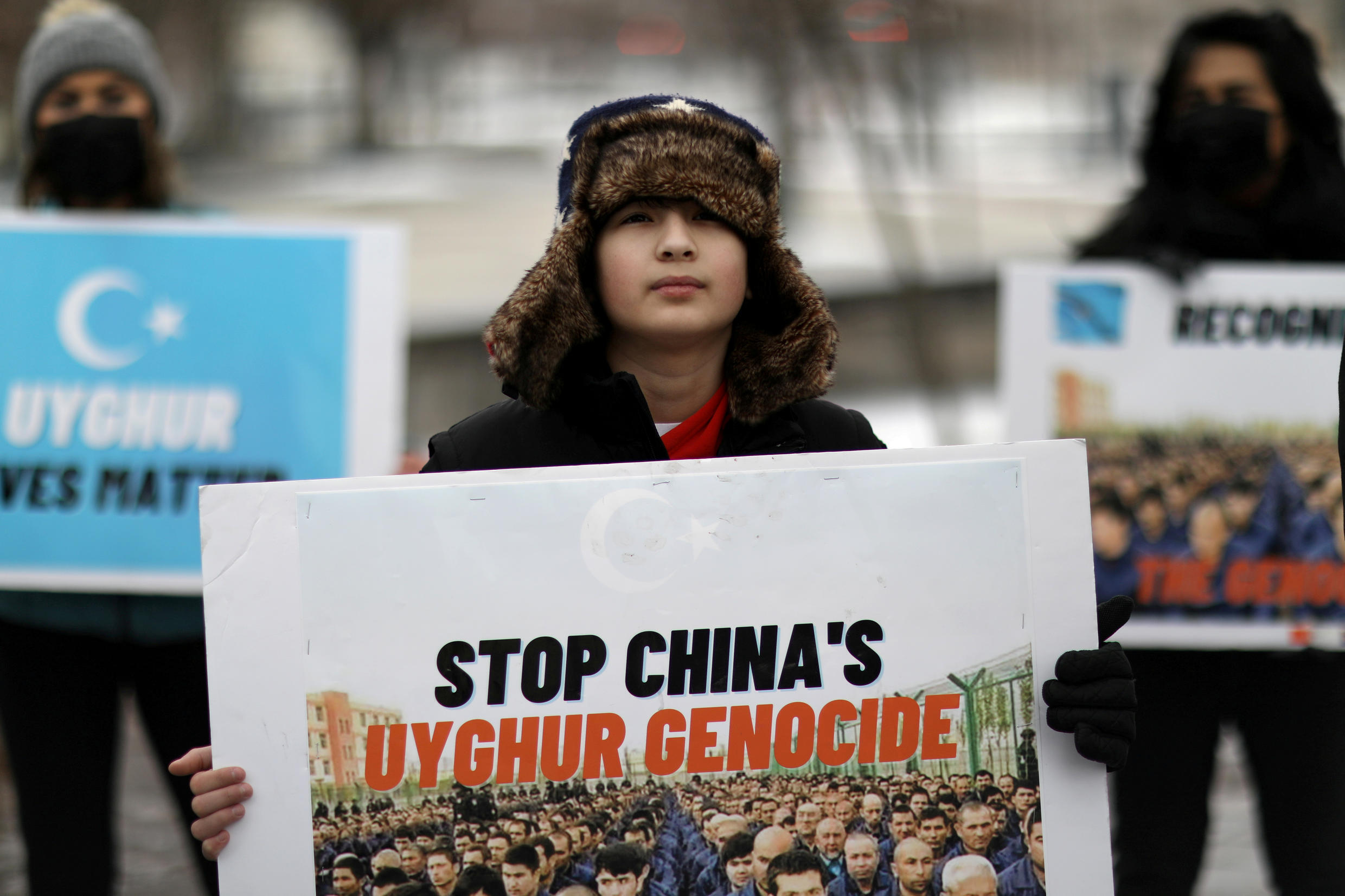 Chine - Ouighour - Canada - US - manifestation