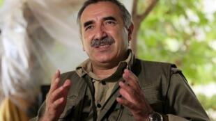 Murat karayilan, co-leader du PKK, et chef de file du CKK, le 28 octobre 2009.